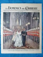 La Domenica del Corriere 30 novembre 1947 Nozze Elisabetta-Filippo - Modena