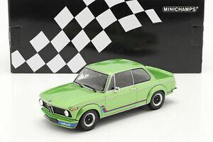 1/18 Minichamps BMW 2002 Turbo 1973 Vert Métal Neuf Boite Livraison À Domicile