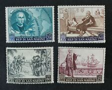 CKStamps: Italy Stamps Collection San Marino Scott#316-319 Mint LH OG