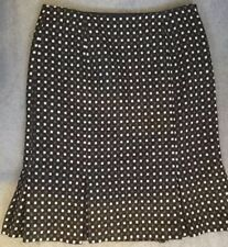 Wool Checked A-line Regular Size Skirts for Women