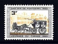 BELGIUM - BELGIO - 1963 - Giornata del francobollo. Vettura postale a quadriga d