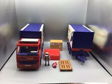 playmobil 4323  camion euro trans double remorque Complet