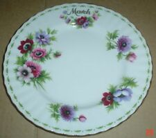 Side Plate Flower of the Month Royal Albert Porcelain & China