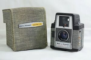 VINTAGE BELL & HOWELL ELECTRIC EYE 127 FILM CAMERA WITH CASE 1958