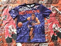 NEW Russell Westbrook OKC Oklahoma City Thunder All Over Print AOP Shirt Mens S