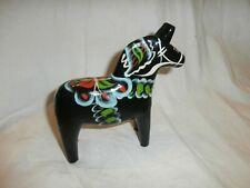 """Vintage Handmade Swedish 6"""" Dala Horse Akta Dalahemslojd Tillv. G.A. Olsson"""