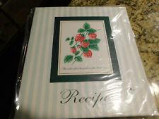 Cute New Strawberry Design Recipe Binder (Roman Inc)