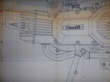 Benelli C 50 1979 - ENGINE  - Blueprint  100x 115 cm