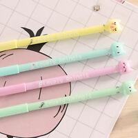 8Pcs Cute Kawaii Funny Cartoon Cat Lot Novelty pens Stationery Gel Ink Pen new