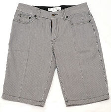 Paul Frank Black and White Striped Mid-Rise Ladies Shorts Pants Size XS