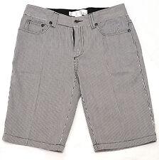 Womens Paul Frank Black & White Striped Mid-Rise Shorts Size XS