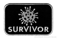 CORONA SURVIVOR iron-on PATCH embroidered FUNNY C#VID 19 PANDEMIC RECOVERY new