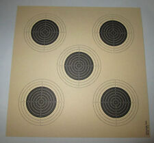 Competition grade Air Rifle 10 meters 5 bulls Targets Edelmann #1314