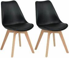 2er Set Esszimmerstühle Wohnzimmerstuhl Küchenstühle mit Beinen aus Massiv-Holz