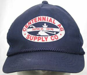 Vintage Centennial AG Supply Co. Since 1976 Snapback Cap 1980s Farming Seed Hat