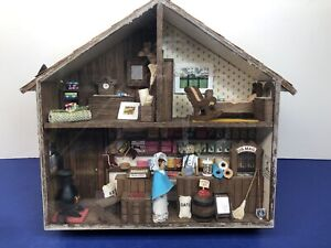 Artisan Made Doll House Miniature House & Grocery Store Front Sweet Display #R