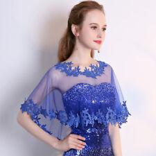 Gjx09 Bride Lace Shawl Wrap Wedding Tulle Jacket Trim Formal Thin Elegant Formal