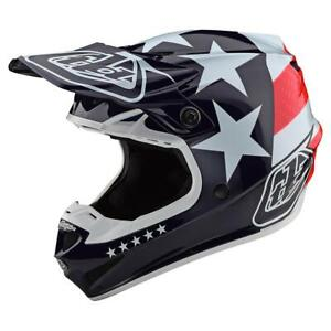 Troy Lee Designs 2020 SE4 Polyacrylite Helmet Freedom Red/White All Sizes
