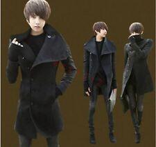 mens Winter Parka peacoat slim fit wool blend overcoat trench long Warm Coats