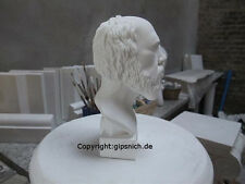 Socrates Small Alabaster Plaster Decorative Bust New philosopher NICE
