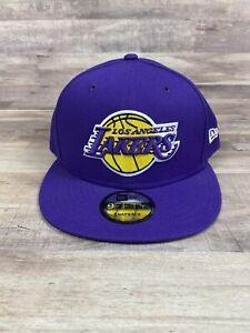 Los Angeles Lakers New Era 9Fifty Basic Purple OTC Adjustable Snapback Hat Cap