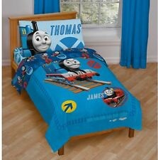 Thomas Train Friends 4 Piece Toddler Comforter Sheet Set with Pillow Case