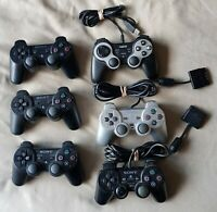 Joblot of 7 PS2 & PS3 Official Controllers - FAULTY UNTESTED