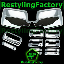 04-08 Ford F150 Chrome Mirror+4 Door Handle+keypad+no keyhole+Tailgate Cover