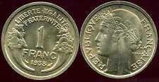 FRANCE  FRANCIA 1 franc MORLON 1938  SUP  ( bis )