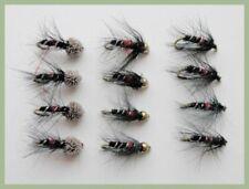 Bibio Fishing Flies 12 Bibio Pattern Trout Flies Mixed Size 10/12