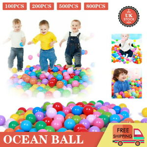 800 x Ball Pit Balls Play Kids Plastic Baby Ocean Soft Toy Colourful Playpen Fun