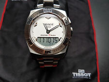 Tissot T racing Touch blanco acero/acero OVP parte Service nuevo