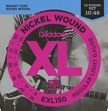D'Addario EXL150 XL Nickel 12-string electric guitar strings