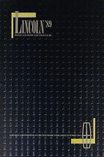 1989 LINCOLN Brochure / Catalog: CONTINENTAL,MARK MK. VII, 7,LSC,TOWN CAR