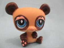 Littlest Pet Shop Lps Brown Tan Diamond Eyes Panda Bear #574 Fanciest Authentic