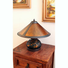 JT Amber Mica Shade Dragonfly Bedside Side Table Desk Lamp Light Leadlight Decor
