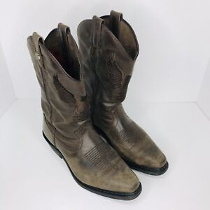 Harley Davidson Drayton Brown Leather Motorcycle Western Boots Men's Size 9M VGC