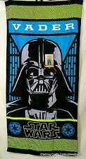 "Disney Star Wars Darth Vader Beach Towel 28"" x 58 "" Soft Cotton NWT"