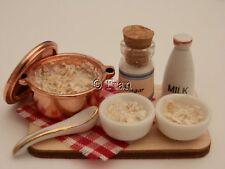 Dolls house food: Making  breakfast porridge prep board -By Fran