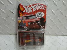 2018 Hot Wheels Collector Edition Red Custom GMC Panel Van w/Real Riders