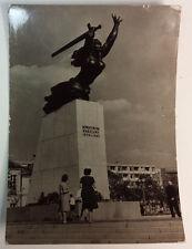 Monument to the Heroes of Warsaw Pomnik Bohaterów Warszawy Postcard RPPC