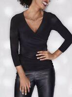 BRAVISSIMO Black Leila Top- Casual Smart Evening Ladies 3/4 Sleeve RRP £42 BR184