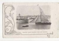 Pleasure Yacht Entering Ramsgate Harbour 1904 Postcard 277a