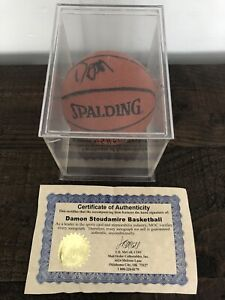 Damon Stoudamire Autographed Signed Mini Basketball Certified Authentic
