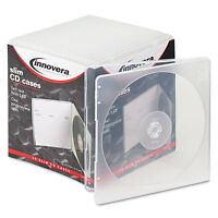 Innovera Slim CD Case Clear 25/Pack 81900