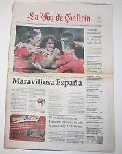 LA VOZ DE GALICIA 8 Julio 2010 Selección Española Fútbol Cuartos Mundial spain