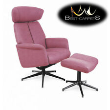 "MODERN beautiful Armchair recliner ""VIVALDI"" pink contemporary best quality"