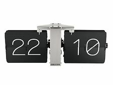 Karlsson Flip Clock No Case - Black Stylish Designer Timepiece