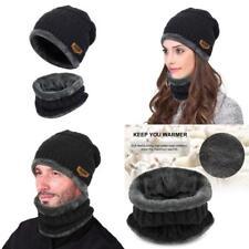 Kit De Bufanda de Gorro de Invierno Punto Grueso Caliente Para Hombres y Mujeres