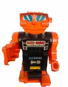 """Rudy the Robot 1970 Remco battery operated Space toy 17"""" vtg orange black Figure"""